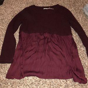 Urban Outfitters long sleeve peplum sweater